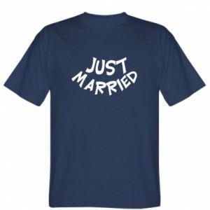 Koszulka męska Just married. Color