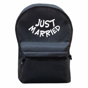 Plecak z przednią kieszenią Just married. Color
