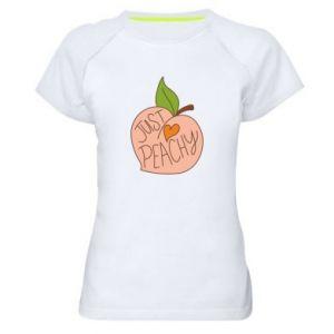 Damska koszulka sportowa Just peachy