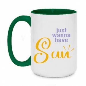 Kubek dwukolorowy 450ml Just wanna have sun
