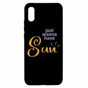 Etui na Xiaomi Redmi 9a Just wanna have sun