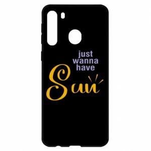 Etui na Samsung A21 Just wanna have sun
