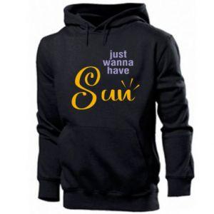 Bluza z kapturem męska Just wanna have sun