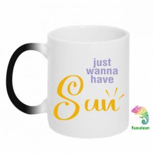 Kubek-magiczny Just wanna have sun