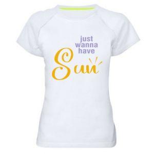 Koszulka sportowa damska Just wanna have sun