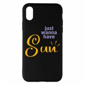 Etui na iPhone X/Xs Just wanna have sun