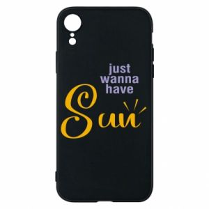 Etui na iPhone XR Just wanna have sun