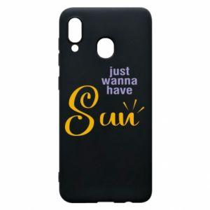 Etui na Samsung A20 Just wanna have sun
