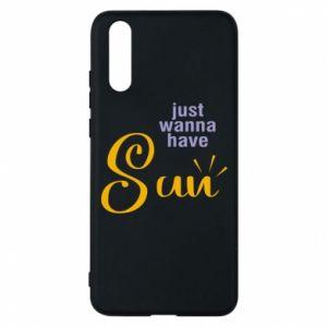 Etui na Huawei P20 Just wanna have sun
