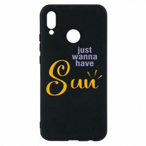 Etui na Huawei P20 Lite Just wanna have sun