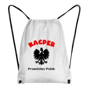 Plecak-worek Kacper jest prawdziwym Polakiem