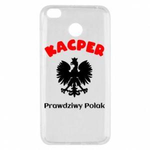 Phone case for Samsung J6 Plus 2018 Kacper is a real Pole - PrintSalon