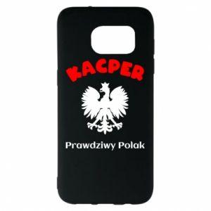 Phone case for Samsung A60 Kacper is a real Pole - PrintSalon