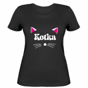 Women's t-shirt Cat with pink ears