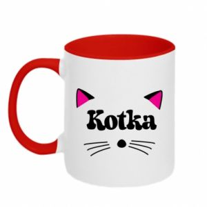 Two-toned mug Cat with pink ears