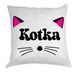 Poduszka Kotka z różowymi uszkami