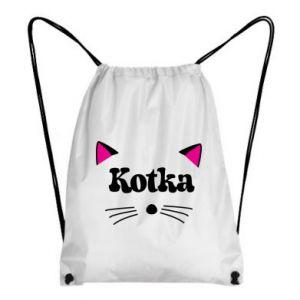 Plecak-worek Kotka z różowymi uszkami