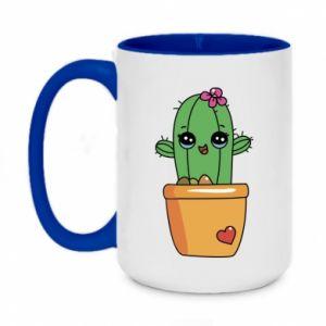 Kubek dwukolorowy 450ml Kaktus