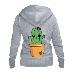 Damska bluza na zamek Kaktus