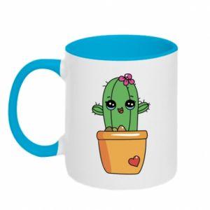 Kubek dwukolorowy Kaktus