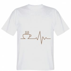 T-shirt Coffee cardiogram