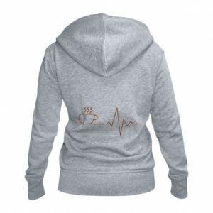 Damska bluza na zamek Kardiogram kawy