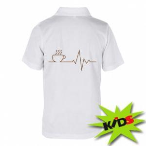 Dziecięca koszulka polo Kardiogram kawy