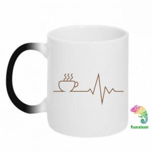 Kubek-kameleon Kardiogram kawy
