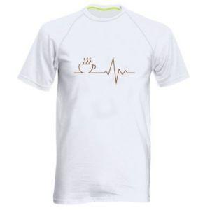 Męska koszulka sportowa Kardiogram kawy