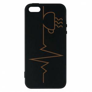 Etui na iPhone 5/5S/SE Kardiogram kawy