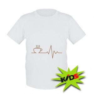Dziecięcy T-shirt Kardiogram kawy