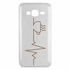 Etui na Samsung J3 2016 Kardiogram kawy