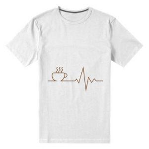 Męska premium koszulka Kardiogram kawy
