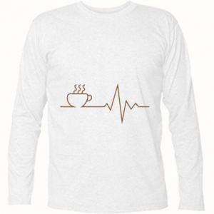 Koszulka z długim rękawem Kardiogram kawy