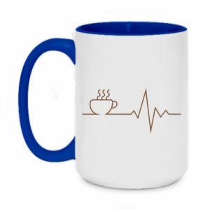 Kubek dwukolorowy 450ml Kardiogram kawy