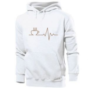 Męska bluza z kapturem Kardiogram kawy