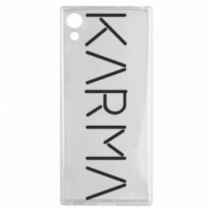 Etui na Sony Xperia XA1 Karma inscription