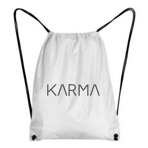 Backpack-bag Karma inscription