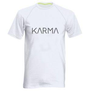 Men's sports t-shirt Karma inscription