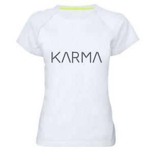 Koszulka sportowa damska Karma inscription