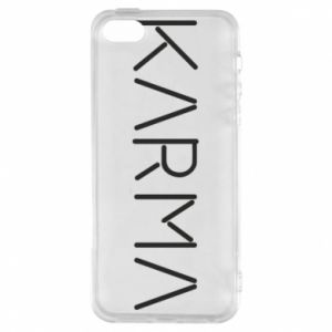 Phone case for iPhone 5/5S/SE Karma inscription
