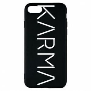 Phone case for iPhone 8 Karma inscription