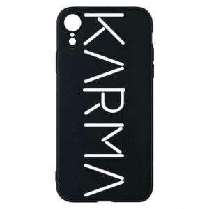 Phone case for iPhone XR Karma inscription