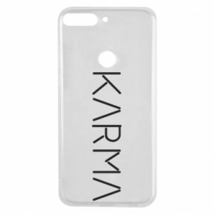 Phone case for Huawei Y7 Prime 2018 Karma inscription