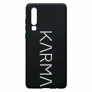 Phone case for Huawei P30 Karma inscription
