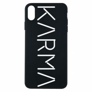 Phone case for iPhone Xs Max Karma inscription