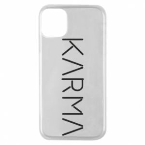 Phone case for iPhone 11 Pro Karma inscription