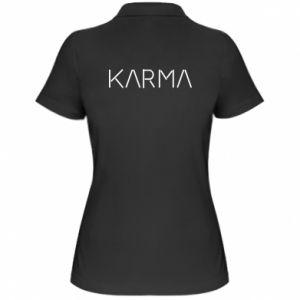 Koszulka polo damska Karma inscription