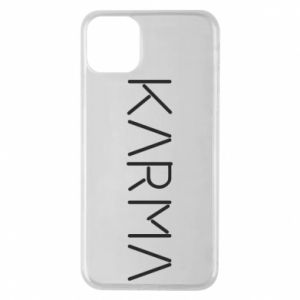 Phone case for iPhone 11 Pro Max Karma inscription
