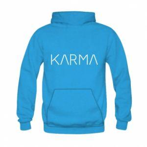 Bluza z kapturem dziecięca Karma inscription